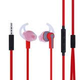 Écouteurs rouges et noirs