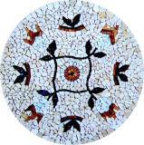 Mosaico fatto a mano puro di Sicis bei reticoli di mosaico murali