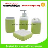 Ensemble de salle de bain en céramique Ensemble de lotion Dispenser Tumbler Savon