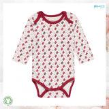 赤い赤ん坊の衣服の男女兼用の赤ん坊Onesie