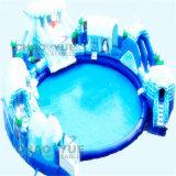 Sosta gonfiabile dell'acqua della neve gigante popolare calda per lo sport di acqua