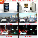 Mini carro novo DVR do registro de 2016 2.0inch GPS com Sony Imx 322, câmera do carro da visão noturna, gravador de vídeo de Digitas do carro de FHD1080p, caixa negra do carro 5.0mega, perseguidor DVR-2414 do GPS