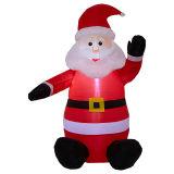 Decorazione il Babbo Natale gonfiabile del giardino di festa di natale del tessuto