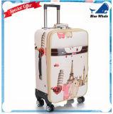 Bw1-043 PUの革卸し売りスーツケース袋旅行袋によって動かされる荷物