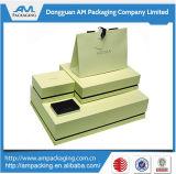 Серия коробки ювелирных изделий с вставками бархата пены для кольца и ожерелья