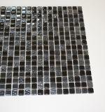 Quadratisches Form-Harz-Mischungs-Schwarz-Kristallglas-Mosaik-dekorative Wand-Fliese