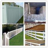 Belle frontière de sécurité permanente extérieure de vinyle de PVC de type architectural