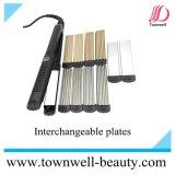 Enderezadora multi del pelo de la función LED Digital con diversas placas
