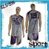 Insieme d'abbigliamento uniforme della Jersey di pallacanestro delle donne in bianco poco costose su ordinazione del Mens
