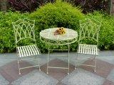 白い屋外の庭のテラスの家具
