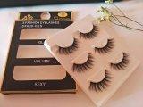 El maquillaje filetea latigazos hechos a mano del pelo verdadero natural de las pestañas falsas