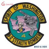 Venda por atacado bordada da correção de programa do emblema do logotipo força aérea feita sob encomenda