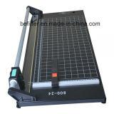I-002 máquina manual del cortador del condensador de ajuste de la guillotina del papel rotatorio de 24 pulgadas
