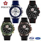 les montres de taille de 43mm de chronographe des hommes mâles de ramassage