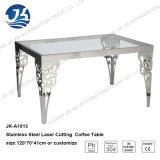 Tableau dinant carré en verre Tempered de l'acier inoxydable 304 avec 220*115*75cm Jk-A1005
