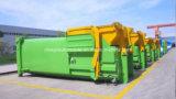 FAW 4X2 15 Tonnen Haken-Arm-speichern LKW mit Abfall-Kompresse-Gerät aus
