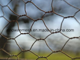 電流を通されたPVC上塗を施してある金網の網六角形ワイヤー網