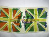 Bufanda británica de la impresión del indicador de la nación del arte distintivo de la pintada basada en la gasa suave 80s