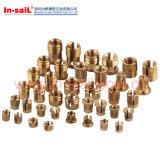 Noix en laiton populaire de garniture intérieure de Doubles-Twilled moletages pour thermoplastique