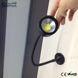 Del cuello de cisne de gran alcance IP67 lámpara de escritorio flexible de la MAZORCA LED 7W