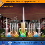 Tipo al aire libre fuente interactiva de la combinación de la música
