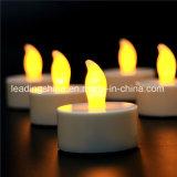 Decoração do casamento que data a luz Flameless colorida amarela branca morna da vela do chá