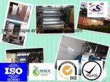 Presionar la cinta adhesiva sensible del papel de aluminio