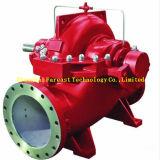 Fase verticale/orizzontale dell'azionamento del motore diesel singola, multi e pompa ad acqua profonda di combattimento dell'incendio del pozzo dell'asta cilindrica lunga aperta di doppia aspirazione della singola fase