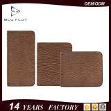 Carpeta clásica simple de la tarjeta del clip del dinero del cuero genuino del diseño para los hombres