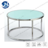 Журнальный стол Tempered стекла Desktop круглый с 304 ногами нержавеющей стали