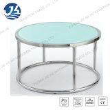 Table basse ronde de bureau en verre Tempered avec 304 pieds d'acier inoxydable