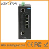 Controlado 5 do Ethernet de 3 fibras interruptores industriais portuários do Ethernet e