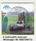 Barraca impermeável da meia esfera com tampa desobstruída do telhado para a exposição para o hotel