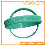 3Dロゴカスタム青いカラーシリコーンのWrisbandのブレスレット(YB-HR-99)