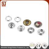 Botón redondo del broche de presión de la prensa del metal de la perla de cristal para los bolsos