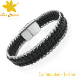 Bracelets tissés par enveloppe en gros de Mens de Stlb-029 Mylove