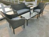 4 parti di conversazione del sofà del giardino del rattan della mobilia stabilita del vimine