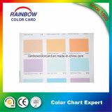 壁のペンキのための完全な印刷カラーカードとのA4サイズ