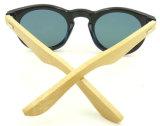 F17152 vendent les lunettes de soleil rondes de bâti de tempe en bambou d'usine de Wenzhou