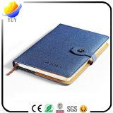 専門の習慣PUの革ハードカバーのペーパー日記のノート