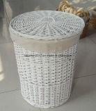 Cesta de lavanderia do salgueiro com tampa