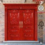 Guangzhou-doppelte Tür-Entwurfs-Handwerker-Innenholz-Außentür (GSP1-021)