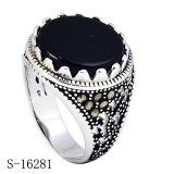 O anel o mais atrasado da jóia da prata esterlina do projeto 925 para o homem