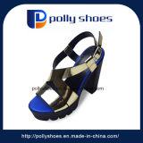 Sandalia de la manera del alto talón de los zapatos ocasionales de las mujeres