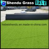 Grama sintética macia de 20mm com reto verde + Cor da onda verde