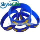 Incandescenza prevalente del silicone di sport in Wristband scuro