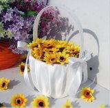 Cesta da flor do casamento do Bowknot de Eco-Friendlysatin (Dream-100073)