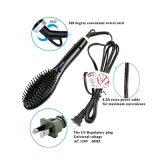 Capelli di Detangle che designano la spazzola elettrica del vapore dei capelli degli strumenti che raddrizza i ferri
