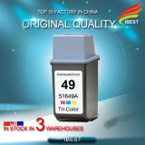 Cartucho de tinta Remanufactured del HP C6614 (20) del color negro compatible del HP 51649A (49)