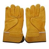 Защитная верхняя кожа с сохранённым природным лицом отрезала упорные перчатки работы водителя
